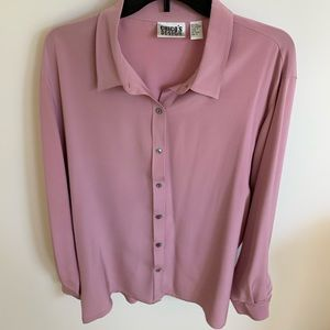 Chico's Size 3 (16) dusty rose long sleeve top